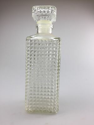 Vintage square cut Whisky glass decanter