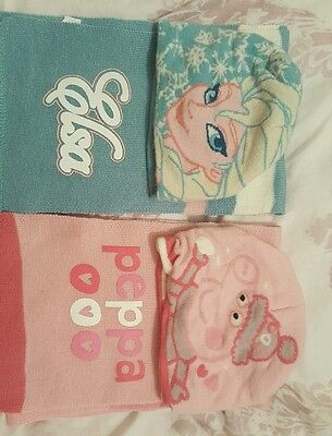 18-24 month hat and scarf peppa pig frozen