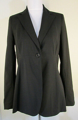 A Pea In The Pod Black Blazer XS One Button Stretch Wool Blend Jacket #6168