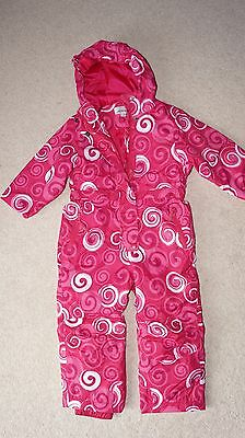 BNWOT ALPINE girls ski suit / all in one winter suit in pink size 4 y