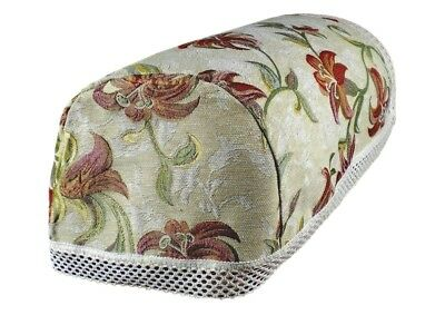 UK MADE COPPER  FLORAL BEIGE  ARM CAPS CHAIR BACKS TAPESTRY LACE TRIM £4.49 EACH