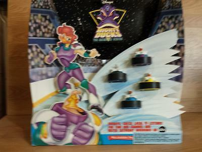 McDonald's Toy Display 1996 Mighty Ducks Hockey the Animated Series 4 Puck toys