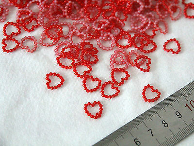 50pcs Red Pearl Circle Heart Wedding Table Confetti Scatter Decoration Decor