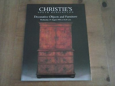Christie's Auction Catalogue 1998 Decorative Objects & Furniture