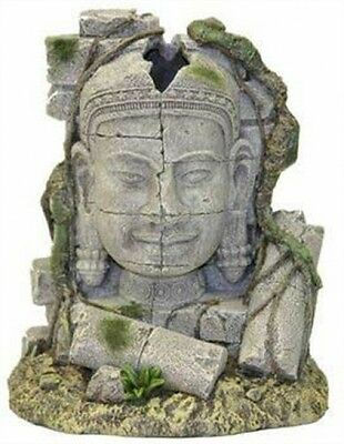 Rosewood Ancient Stone Head Ruin Aquarium Decor