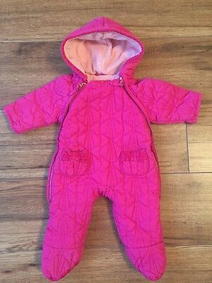 Ted Baker Pink Girls Snow Suit 0-3 Months