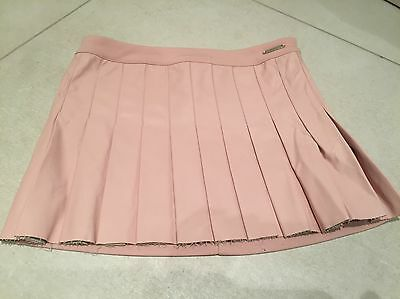 Beautiful Mayoral Faux Leather Pink Pleated Skirt  Age 8