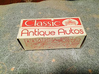BANTHRICO METAL CAR BANK Promotional 1930 DUESENBERG Chicago IL Coin BANK