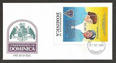 1989 Scouts Dominica Girl Guides 60th anniv SS FDC
