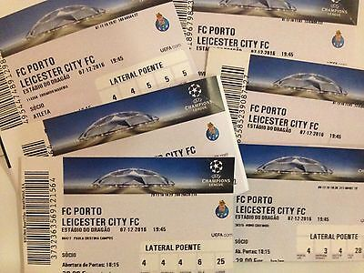 2016 FC PORTO v LEICESTER CITY CHAMPIONS LEAGUE USED TICKET