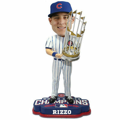 Anthony Rizzo CHICAGO CUBS 2016 WORLD SERIES CHAMPIONS BOBBLEHEAD TROPHY NEW