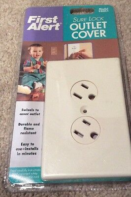 1 New First Alert Sure Lock Outlet Cover Model CSOC1 Child Safety Baby