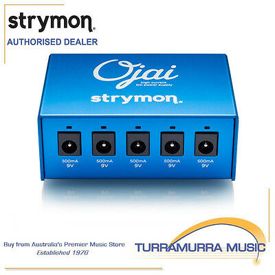 Strymon Ojai Isolated Guitar Effects FX Pedal Power Supply PSU 5 9V Outputs