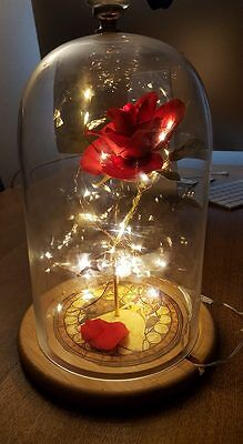 Beauty and the Beast Christmas Valentines unusual gift home light rose disney