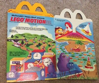 McDonald's Happy Meal Box - LEGO MOTION 1989 Grimmace Ronald