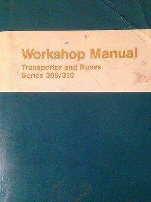 MERCEDES O 309 310 TRANSPORTER BUS L 406 408 508 D Owners Handbook Repair Manual