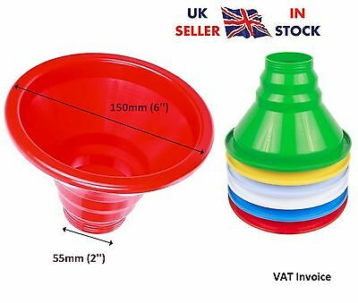 "Plastic Easy Fill Wide Funnel For Preserves Jams Jars 55mm (2"")"