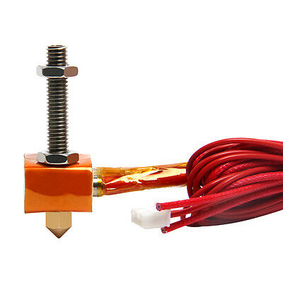 Spare parts Hotend Kit for MK8 extruder 1.75mm/0.3mm nozzle for Imprimante 3D