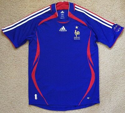FRANCE Football Soccer Jersey Mens Size S Adidas Climacool Worn Once