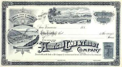 188_ American Land & Trust Co. Stock Certificate