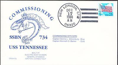 Ballistic Missile Submarine USS TENNESSEE SSBN-734 COMMISSIONING Naval Cover