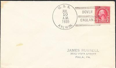Destroyer USS AYLWIN DD-355 Dover England 1935 Naval Cover