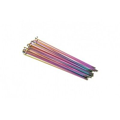 NEW 34R RAINBOW DOUBLE BUTTED SPOKES 182mm