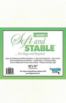 """ByAnnie SOFT & STABLE 36"""" x 58"""" WHITE For Bags and Beyond S1036W"""