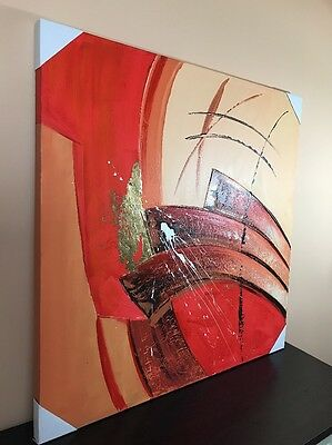 Wall Art Painting Canvas FRAMED Home Decor Original Modern Abstract (39X39)