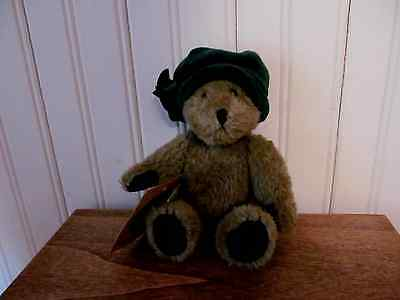 Boyds Bear  Plush * Blanch DeBearvoir  Antique Vintage Look with Green Hat   Tag