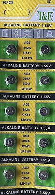 10 Pack 1.5V Alkaline Button Cell Batteries LR41 / AG3 / 392 Watches & Toys