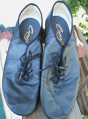 Capezio Black Leather Women's Jazz Dance Shoes. Size 12-M Used But Wonderful