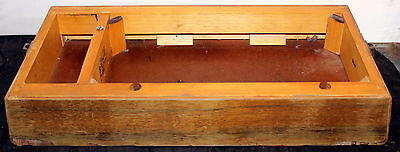 Original Singer Sewing Machiene 201P Wood Wooden Case Base With Side Clips