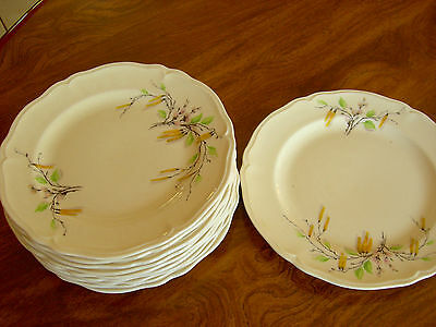 "Lot of NINE EDWIN M. KNOWLES ""SYLVIA"" PATTERN Bread and Butter Plates - EUC"