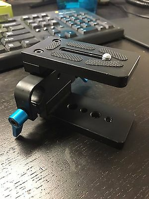 "Neewer 15mm Rod Support Baseplate w/ 1/4"" Screw Quick Release Plate"