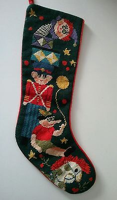 "Imperial Elegance Christmas Stocking 22"" Nut Cracker Toy Jack in the Box Soldier"