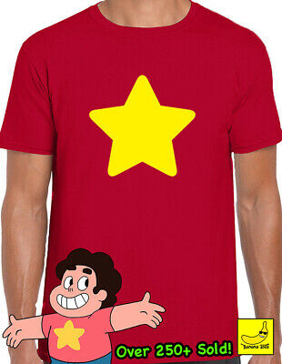Steven Universe Yellow Star T-Shirt Shield Jap Cartoon Funny Ruby Gem CookieCat