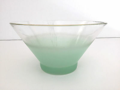 West Virginia Specialty Glass Co.salad bowl, BLENDO in green 1950's 1960's