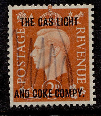 Great Britain 2p KGVI The Gas Light and Coke Co Commercial Overprint Used