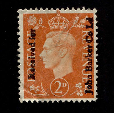 OPC GB 2p KGVI John Barker Co Commercial or Security Overprint used