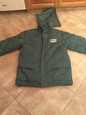 HESS Gas Station B-34 Winter Jacket with hood Size L , USED In Good Condition