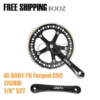"bicycles crankset crank BCD130 Square Single Speed 1/8"" 52T 170mm"