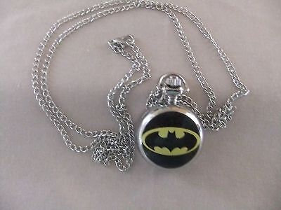 Vintage  Style ** Fob  Watch **  Batman  **  With  Chain.