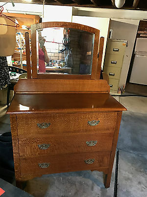 Antique Silky Oak Dresser
