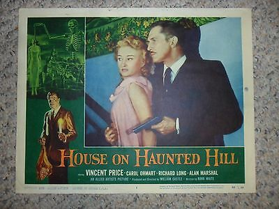 House On Haunted Hill 1958 ORIGINAL LOBBY CARD #1 Horror Monster VINCENT PRICE