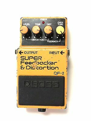 Boss DF-2, Super Feedback Distortion, Made In Japan 1986 Guitar Effect Pedal