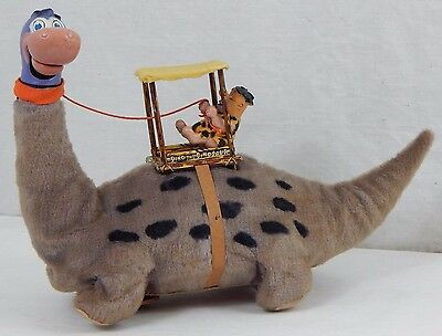 VTG 1962 Marx Toys Japan Battery Operated Fred Flintstones On Dino Toy WORKING