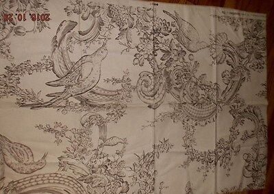 """Brunschwig & Fils Rocaille French Floral toile fabric 37""""x 27"""" pillows etc."""