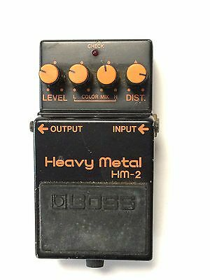 Boss HM-2, Heavy Metal, Distortion, Made In Japan, 1984, Guitar Effect Pedal