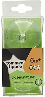 Tommee Tippee Closer To Nature Anti-Colic Fast Flow Teats (2-pack)